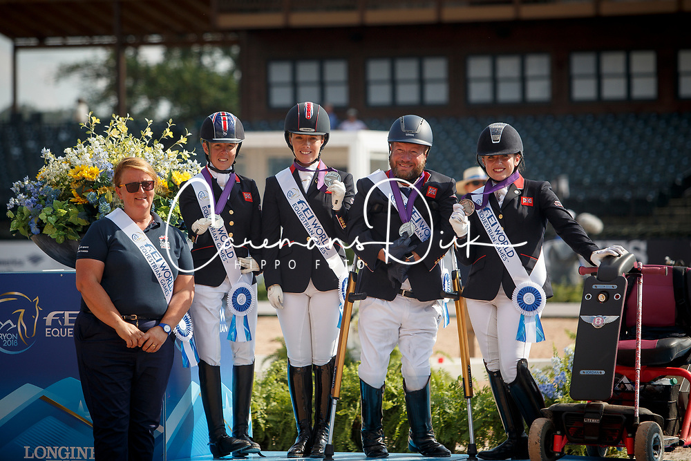 Sarah Armstrong, Sophie Wells, Lee Pearson, Natasha Baker, Erin Frances Orford, <br /> World Equestrian Games - Tryon 2018<br /> © Hippo Foto - Sharon Vandeput<br /> 21/09/2018