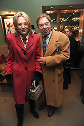 LORD & LADY LLOYD WEBBER at the Hennessy Gold Cup 2010 at Newbury Racecourse, Berkshire on 27th November 2010.