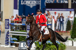 GUERY Jerome (BEL), QUEL HOMME DE HUS<br /> Rotterdam - Europameisterschaft Dressur, Springen und Para-Dressur 2019<br /> Longines FEI Jumping European Championship part 2 - team 2nd and final round<br /> Finale Teamwertung 2. Runde<br /> 24. August 2019<br /> © www.sportfotos-lafrentz.de/Stefan Lafrentz