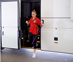 ASTANA, KAZAKHSTAN - Sunday, September 17, 2017: Wales' Jessica Fishlock arrives ahead of the FIFA Women's World Cup 2019 Qualifying Round Group 1 match between Kazakhstan and Wales at the Astana Arena. (Pic by David Rawcliffe/Propaganda)