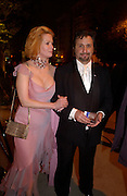 Kathy Castel-Bajac and Ron Silver, Bloomberg after-party,  Russian mansion, Washington Correspondents dinner, Washington Hilton, 26 April 2003. © Copyright Photograph by Dafydd Jones 66 Stockwell Park Rd. London SW9 0DA Tel 020 7733 0108 www.dafjones.com