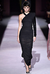 Kendall Jenner walks on the runway during the Tom Ford New York Fashion Week Spring Summer 2018 in New York, NY on September 6, 2017. (Photo by Jonas Gustavsson/Sipa USA)