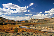 Scenic View of the Gros Ventre Valley in Autumn.