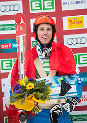 25.01.2014, Kreischberg, St. Georgen, AUT, Ski Cross Weltcup, Podium, im Bild Johannes Rohrweck (AUT, 1. Platz) // 1st place Johannes Rohrweck of Austria during the Winner award Ceremony of FIS Ski Cross World Cup at the Kreischberg in St. Georgen, Austria on 2014/01/25. EXPA Pictures © 2014, PhotoCredit: EXPA/ Johann Groder