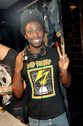 Kele Okereke  at a party to celebrate the Firetrap Watches and Kate Moross Collaboration Launch, held at Firetrap, 21 Earlham Street, London, UK on 13th October 2010.