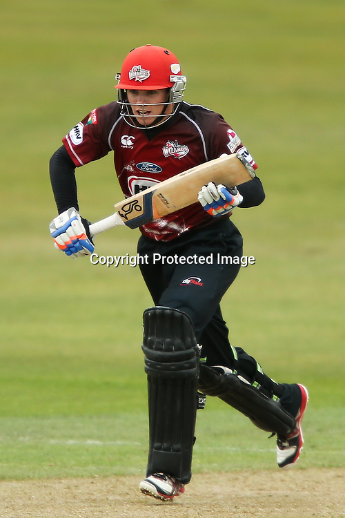Canterbury's Tom Latham bats during the HRV Cup Twenty20 Cricket match between Canterbury Wizards and Otago Volts at Aorangi Oval, Timaru on Thursday 27 December 2012. Photo: Martin Hunter/Photosport.co.nz