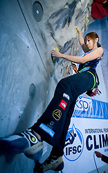 Climber Akiyo Naguchi (JPN) at World cup competition in Zlato polje, Kranj, Slovenia, on November 15, 2008.  (Photo by Vid Ponikvar / Sportida)