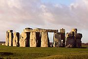 Horseshoe of Sarsen Trilithons, Circles of Sarsen Stones with lintels, Stonehenge, Neolithic and Bronze Age megalithic monument, 3050 - 1500 BC, Salisbury, Wiltshire, England, UK. Picture by Manuel Cohen