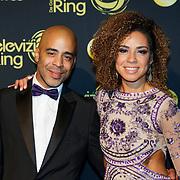 NLD/Amsterdam/20181011 - Televizier Gala 2018, weervrouw en partner Ronald