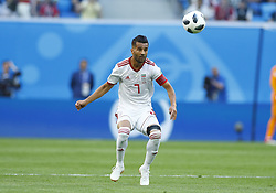 June 15, 2018 - Saint Petersburg, Russia - Group B Morocco v IR Iran - FIFA World Cup Russia 2018.Masoud Shojaei (Iran)  during the 2018 FIFA World Cup Russia group B match between Morocco and IR Iran at the Saint Petersburg Stadium on June 15, 2018 in Saint Petersburg, Russia. (Credit Image: © Matteo Ciambelli/NurPhoto via ZUMA Press)