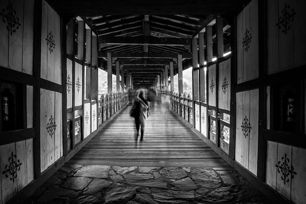 Covered bridge in Bhutan