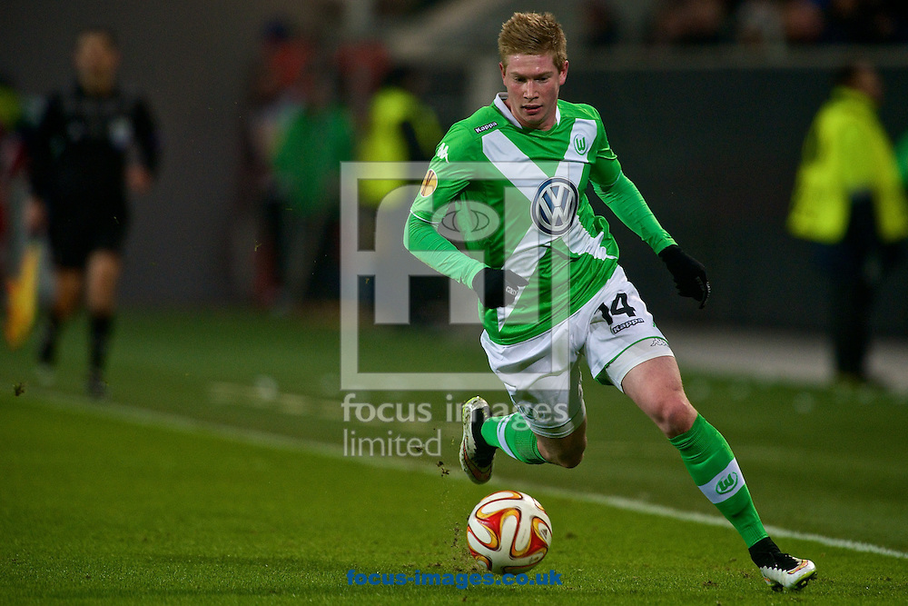 Kevin De Bruyne of VfL Wolfsburg during the UEFA Europa League match at Volkswagen Arena, Wolfsburg<br /> Picture by Ian Wadkins/Focus Images Ltd +44 7877 568959<br /> 19/02/2015