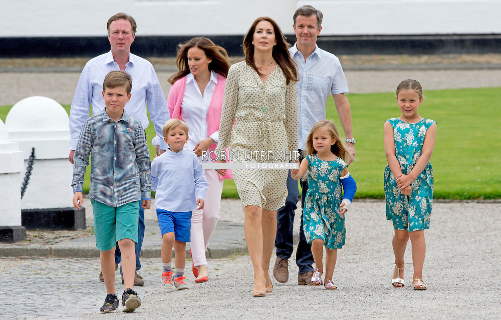 19-7-2015 GRASTEN - Crown Prince Frederik and Crown Princess Mary attended with children Prince Christian Princess Isabella, Prince Vincent and Princess Josephine a horse parade at Grasten Slot  during the horse parade COPYRIGHT ROBIN UTRECHT<br /> 19-7-2015 Grasten - Kroonprins Frederik en kroonprinses Mary woonde met kinderen Prince Christian Princess Isabella, Prins Vincent en Prinses Josephine , een paard parade in Grasten Slot tijdens het paard parade COPYRIGHT ROBIN UTRECHT