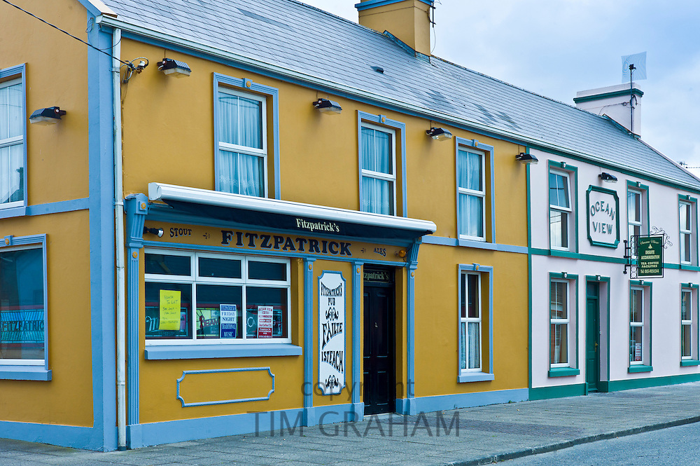 Fitzpatrick traditional public bar and guest house in Kilkee, County Clare, West of Ireland