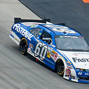 Carl Edwards #60 leading the Nationwide Series race going into the last lap at Dover International Speedway in Dover Delaware....