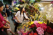 Chatuchak Sunday Market. Flower shop.
