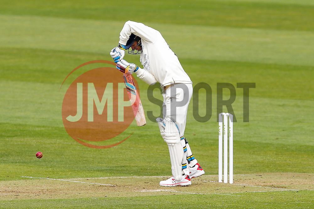 Peter Handscomb of Gloucestershire takes to the wicket in his first home County Cricket Match - Photo mandatory by-line: Rogan Thomson/JMP - 07966 386802 - 26/04/2015 - SPORT - CRICKET - Bristol, England - Bristol County Ground - Gloucestershire v Derbyshire — Day 1 - LV= County Championship Division Two.