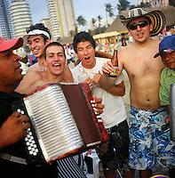 Beach party in Cartagena, Colombia. (Photo/Scott Dalton)