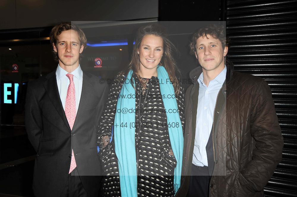 Left to right, BEN HEATHCOAT-AMORY, HARRIET COLTHURST and HARRY HEATHCOAT-AMORY at the premier of Tenacity on the Tasman at the Odeon Leicester Square, London on 19th November 2009.
