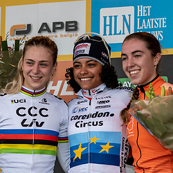 2018-11-24: Cycling: CX Worldcup: Koksijde: Podium U23 women