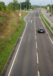 © Licensed to London News Pictures. 15/10/2013 London, UK.  A general view of the northbound A10 between Ware and Puckeridge where two teenage girls died in a collision. The accident occurred when a Citroen C1 collided with a deer. A Volvo V40 then collided with the Citroen, which caught fire.The driver and passenger of the Citroen, who are 18 and 17 years old, died at the scene. The driver of the Volvo was taken to hospital for treatment. Photo credit : Simon Jacobs/LNP