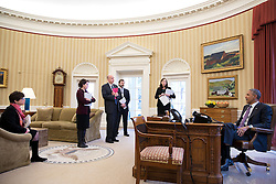 President Barack Obama preps for a meeting with bipartisan Members of Congress to discuss criminal justice reform, in the Oval Office, Feb. 24, 2015. Participants from left are: Senior Advisor Valerie Jarrett; Cecilia Muñoz, Domestic Policy Council Director; Neil Eggleston, Counsel to the President; Joshua Pollack, Senate Legislative Affairs Liaison and Katie Beirne Fallon, Director of Legislative Affairs. (Official White House Photo by Pete Souza)<br /> <br /> This official White House photograph is being made available only for publication by news organizations and/or for personal use printing by the subject(s) of the photograph. The photograph may not be manipulated in any way and may not be used in commercial or political materials, advertisements, emails, products, promotions that in any way suggests approval or endorsement of the President, the First Family, or the White House.
