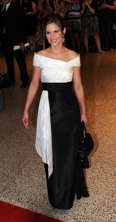 Natalie Morales arrives for the White House Correspondents Dinner in Washington, DC