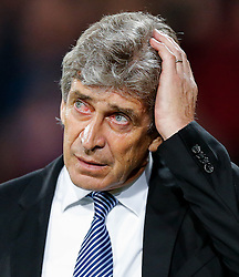 Manchester City Manager Manuel Pellegrini looks on - Photo mandatory by-line: Rogan Thomson/JMP - 07966 386802 - 06/04/2015 - SPORT - FOOTBALL - London, England - Selhurst Park - Crystal Palace v Manchester City - Barclays Premier League.
