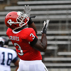Sep 12, 2009; Piscataway, NJ, USA;  Rutgers tight end Shamar Graves (3) makes a catch during warmups before Rutgers' 45-7 victory over Howard in NCAA College Football at Rutgers Stadium.