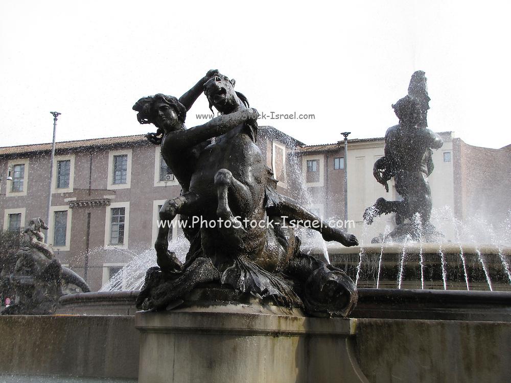 Italy, Rome, Piazza della Repubblica