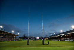 A general view of Rodney Parade, home of Dragons<br /> <br /> Photographer Simon King/Replay Images<br /> <br /> Guinness Pro14 Round 12 - Dragons v Cardiff Blues - Sunday 31st December 2017 - Rodney Parade - Newport<br /> <br /> World Copyright © 2017 Replay Images. All rights reserved. info@replayimages.co.uk - http://replayimages.co.uk