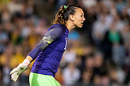 NEWCASTLE, NSW - NOVEMBER 13: Chilean goalkeeper Christiane Endler (1) unhappy with the call at the international women's soccer match between Australia and Chile at McDonald Jones Stadium in NSW, Australia. (Photo by Speed Media/Icon Sportswire)