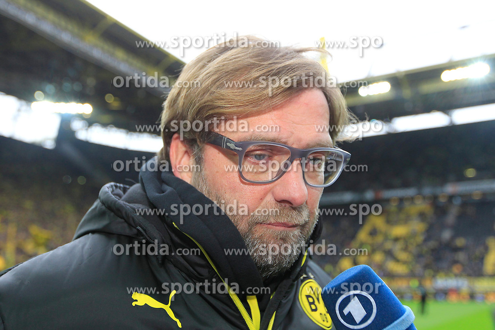 01.03.2014, Signal Iduna Park, Dortmund, GER, 1. FBL, Borussia Dortmund vs 1. FC Nuernberg, 23. Runde, im Bild Trainer Juergen Klopp (Borussia Dortmund) nachdenklich, konzentriert, fokussiert // during the German Bundesliga 23th round match between Borussia Dortmund and 1. FC Nuernberg at the Signal Iduna Park in Dortmund, Germany on 2014/03/01. EXPA Pictures &copy; 2014, PhotoCredit: EXPA/ Eibner-Pressefoto/ Schueler<br /> <br /> *****ATTENTION - OUT of GER*****