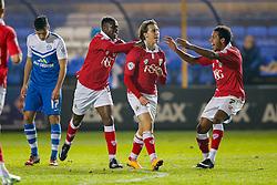 Luke Freeman of Bristol City celebrates scoring a goal to make it 0-1 - Photo mandatory by-line: Rogan Thomson/JMP - 07966 386802 - 28/11/2014 - SPORT - FOOTBALL - Peterborough, England - ABAX Stadium - Peterborough United v Bristol City - Sky Bet League 1.