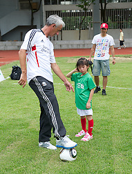 GUANGZHOU, CHINA - Wednesday, July 13, 2011: Liverpool's ambassador Ian Rush during a coaching clinic for local youngsters at the Guangzhou Sports University during day three of the club's Asia Tour. (Photo by David Rawcliffe/Propaganda)