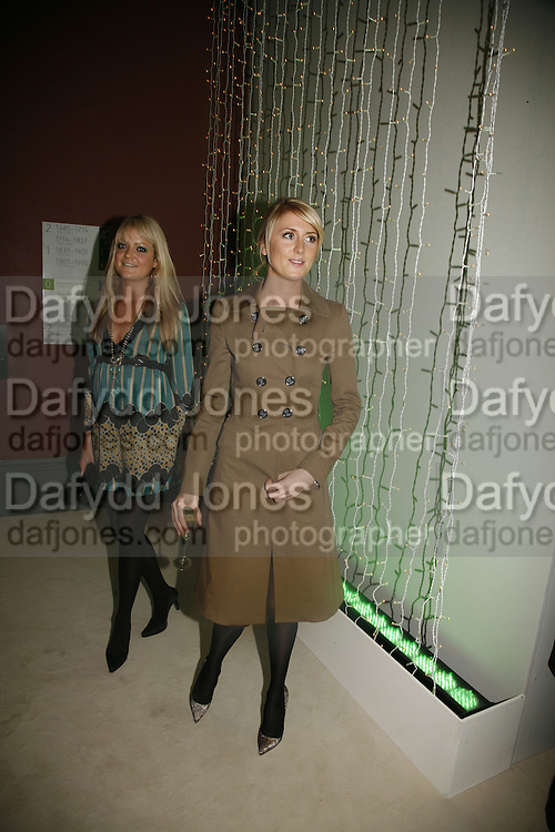 Lady Eloise Anson and lady Emily Compton, Burberry celebrates the opening of the Hockney exhibition and their 150th anniversary with a party at the National Portrait Gallery. 11 October 2006. -DO NOT ARCHIVE-© Copyright Photograph by Dafydd Jones 66 Stockwell Park Rd. London SW9 0DA Tel 020 7733 0108 www.dafjones.com