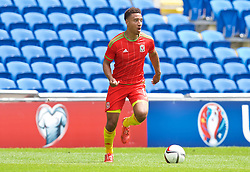 CARDIFF, WALES - Friday, June 5, 2015: Wales' Adam Henley during a practice match at the Cardiff City Stadium ahead of the UEFA Euro 2016 Qualifying Round Group B match against Belgium. (Pic by David Rawcliffe/Propaganda)