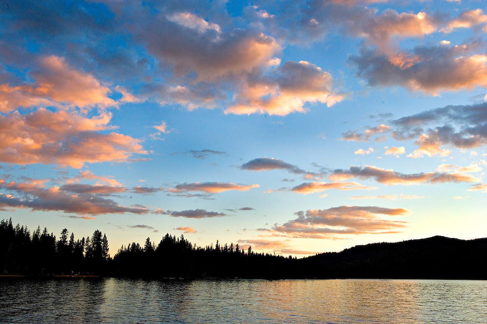 Sunset and Clouds Over Priest Lake, Idaho
