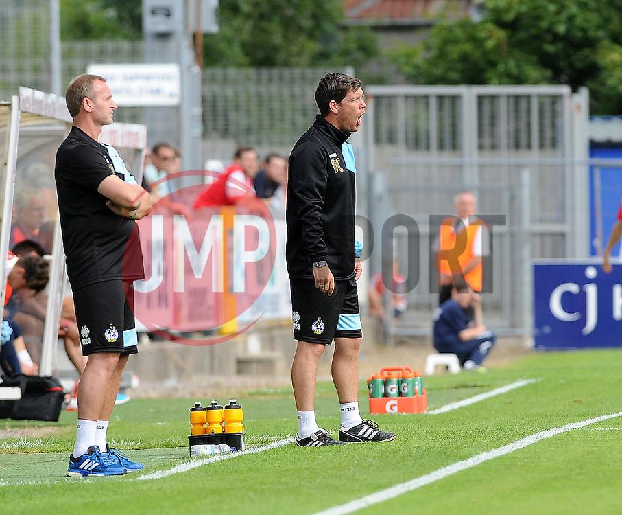 Bristol Rovers manager, Darrell Clarke - Photo mandatory by-line: Neil Brookman/JMP - Mobile: 07966 386802 - 18/07/2015 - SPORT - Football - Bristol - Memorial Stadium - Pre-Season Friendly