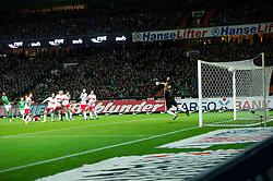 27.11.2011, Weser Stadion, Bremen, GER, 1.FBL, Werder Bremen vs VFB Stuttgart, im BildFreistosstor durch Naldo (Bremen #4) in den Winkel keine Chance für Sven Ulreich (Stuttgart #1). // during the Match GER, 1.FBL, Werder Bremen vs VFB Stuttgart, Weser Stadion, Bremen, Germany, on 2011/11/27.EXPA Pictures © 2011, PhotoCredit: EXPA/ nph/ Kokenge..***** ATTENTION - OUT OF GER, CRO *****