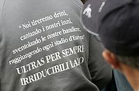 Fotball<br /> Italia<br /> Foto: Inside/Digitalsport<br /> NORWAY ONLY<br /> <br /> 14.11.2007<br /> <br /> SS Lazio fans during the funeral service of Gabriele Sandri, a Lazio soccer team fan who was killed at a highway petrol station near Arezzo