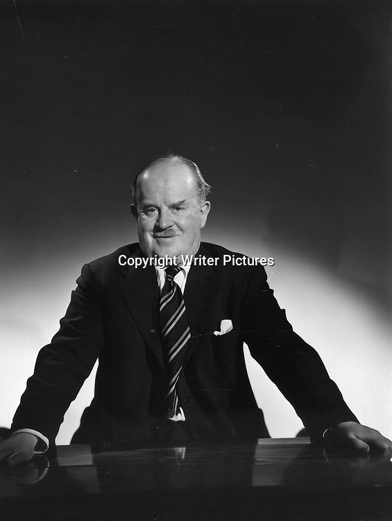Scriptwriter Ted Kavanagh in the studio 1954<br /> <br /> Copyright Writer Pictures<br /> contact +44 (0)20 8224 1564<br /> sales@writerpictures.com<br /> www.writerpictures.com