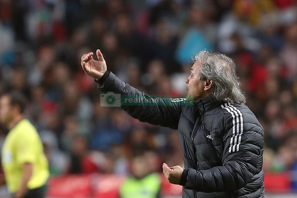June 7, 2018 - Lisbon, Portugal - Algerias head coach Rabah Madjer gestures during the FIFA World Cup Russia 2018 preparation football match Portugal vs Algeria, at the Luz stadium in Lisbon, Portugal, on June 7, 2018. (Portugal won 3-0) (Credit Image: © Pedro Fiuza/NurPhoto via ZUMA Press)