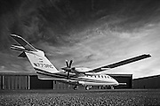 Piaggio P180 Avanti II, photographed on the ramp at Atlanta's Dekalb Peachtree Airport (PDK).