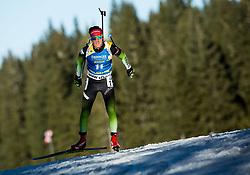 Miha Dovzan (SLO) in action during the Men 10km Sprint at day 6 of IBU Biathlon World Cup 2018/19 Pokljuka, on December 7, 2018 in Rudno polje, Pokljuka, Pokljuka, Slovenia. Photo by Vid Ponikvar / Sportida