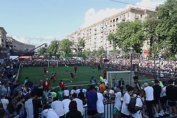A Liverpool legends team play a match in Kiev where Liverpool will play Real Madrid in the UEFA Champions League Final tomorrow night.