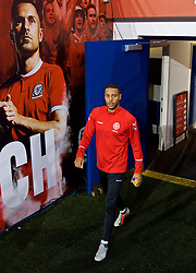 CARDIFF, WALES - Thursday, November 15, 2018: Denmark's Mathias Jørgensen during a training session at the Cardiff City Stadium ahead of the UEFA Nations League Group Stage League B Group 4 match between Wales and Denmark. (Pic by David Rawcliffe/Propaganda)