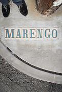 upside down self-portrait on Marengo Street at Magazine Street