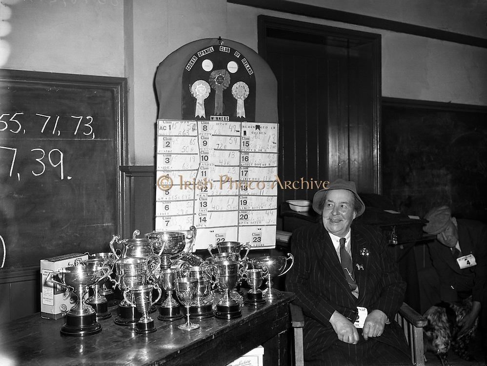 Cocker Spaniel Club of Ireland's 25th Show .26/04/1958 .