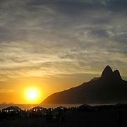 Sunset over Ipanema Beach, Rio de Janiero, Brazil. Photo by Jen Klewitz